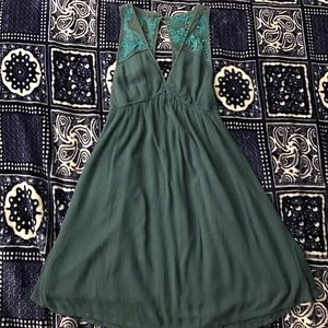 Ecote Dresses & Skirts - Ecote. Teal Embroidered Dress