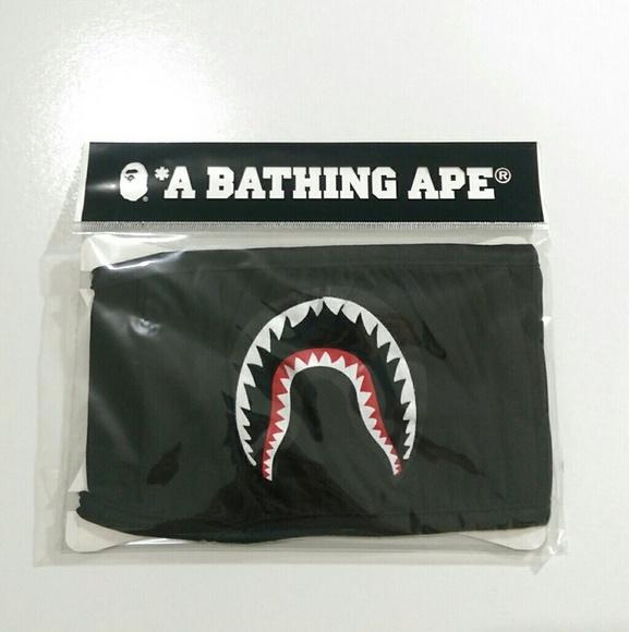 Authentic bape shark black mask 95016f60508