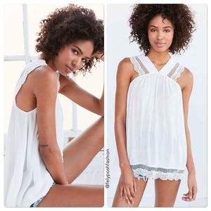 Urban Outfitters Kimchi Blue Lace Strap Tunic Top