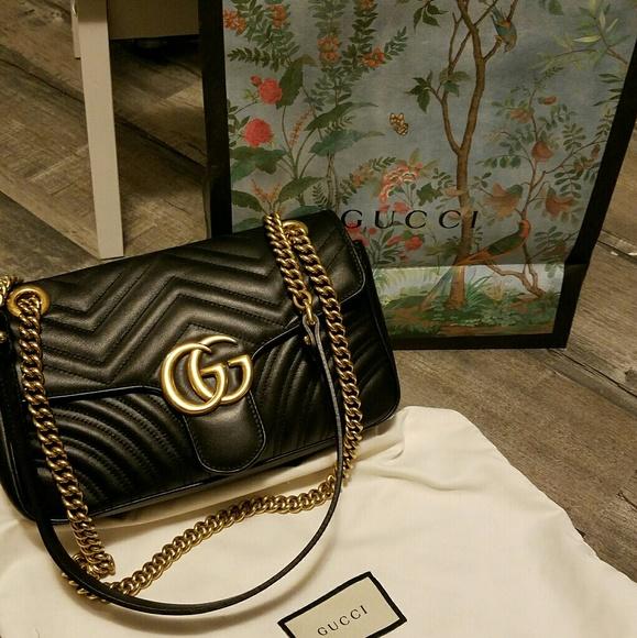 4337f85c58d6 Gucci Handbags - GUCCI Marmont Matelasse Chain Handbag