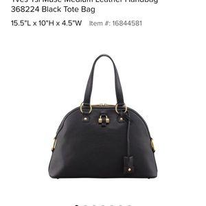 ysl Handbags - Large YSL muse bag black