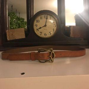 Linea Pelle Accessories - Linea Pelle handmade leather, bronze buckle belt