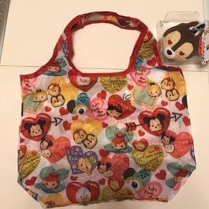 Disney Handbags - Chip tsum tsum Valentine's special eco bag