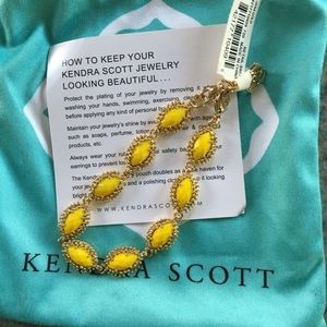 Kendra Scott yellow bracelet