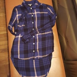 Woman's Flannel Button Down Shirt