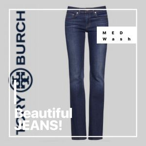 TORY BURCH JEANS STONEWASHED DISTRESSED