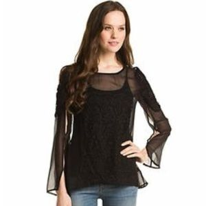 Stella and Jamie Lucia black lace top