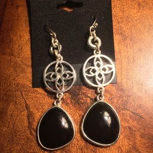 Jewelry - Sterling Silver and Black Onyx Dangle Earrings