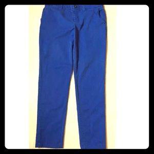 KHAKIS by GAP Broken-in Straight Cobalt Blue Pants