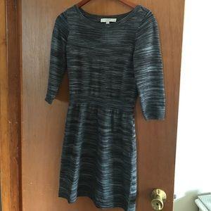 Loft grey knit dress