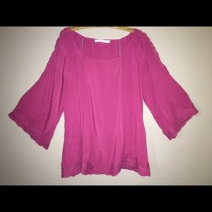 Tops - Raspberry Purple Boho Top