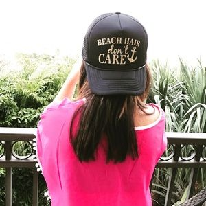 Accessories - NWT Beach Hair Don t Care Trucker Style Hat 70ed232c860