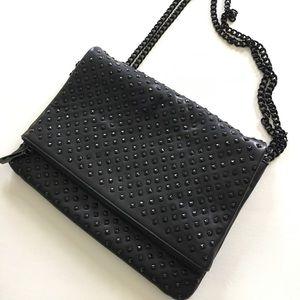 Zara studded crossbody messenger bag