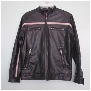 Point Zero Other - Point zero faux leather jacket sz M