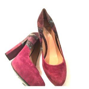 Belle by Sigerson Morrison Shoes - Belle Sigerson Morrison snakeskin suede pumps