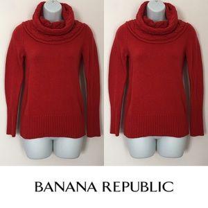 Banana Republic Sweaters -   Banana Republic   Red Italian Yarn Knit Sweater