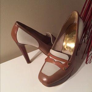 Michael Kors Fallyn Platform Loafer heels
