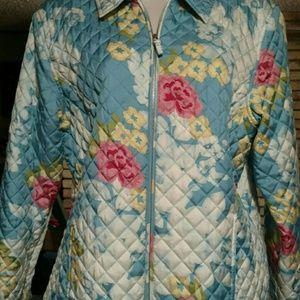 Kate Hill Jackets & Blazers - 100% silk zip jacket