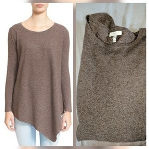 Joie Sweaters - Joie Brown Fawn Tambrel D Asymmetrical Sweater