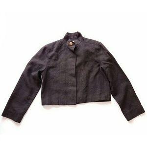 Christian Dior Jackets & Blazers - Christian Dior cropped black linen jacket 6