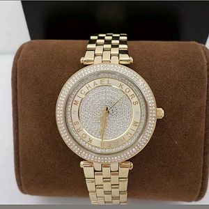 Michael Kors  Accessories - NWT Authentic Michael Kors Crystal gold watch