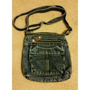 Faded Glory Handbags - Denim mini crossbody bag