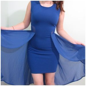 Material Girl Dresses & Skirts - Material girl blue angel dress sz S