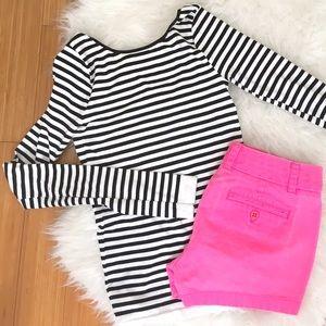 J. Crew Neon Pink Chino Shorts Sz 0