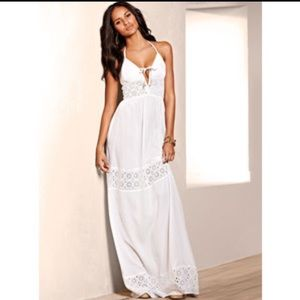 white victoria's secret maxi dress on Poshmark