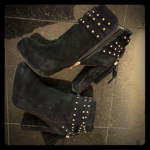 Jessica Simpson Shoes - Jessica Simpson boots platform black suede 6.5