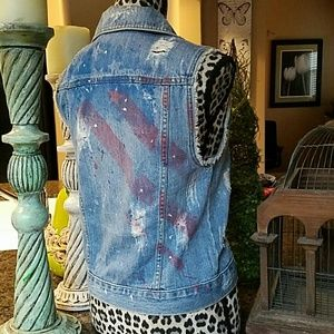 BDG Jackets & Blazers - Denim Flag Vest