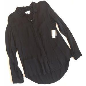 Velvet Tops - Velvet by Graham and Spencer black tunic blouse