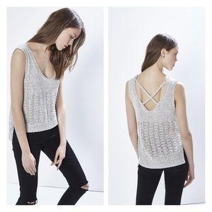 Rebecca Minkoff Tops - rebecca minkoff • criss cross reina knit tank top