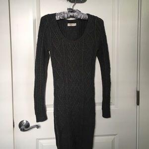 Grey long sleeve knit dress