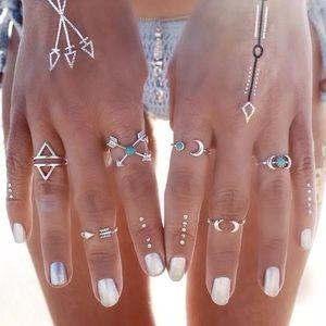 Aztec stackable ring set