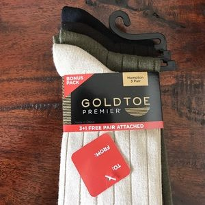 Gold Toe Other - NWT four men's gold toe socks