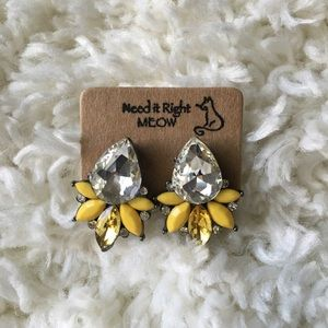 💜3 for $20💜Yellow rain drop earrings