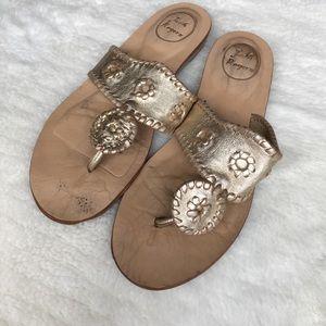 Jack Rogers Shoes - Jack Rogers Gold Sandals size 8 1/2