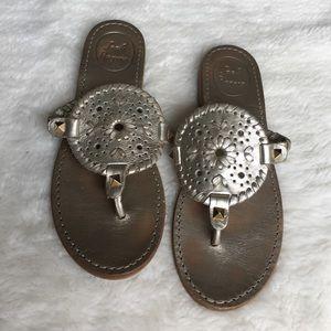 Jack Rogers Shoes - Jack Rogers Platinum Gold Sandals size 5 1/2