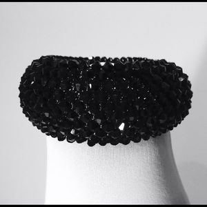 For sale Swarovski crystal  cuff chunky bracelet