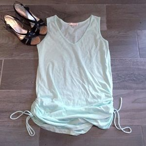 Kenar Tops - 🆕Kenar light blue ruched sleeveless tunic top