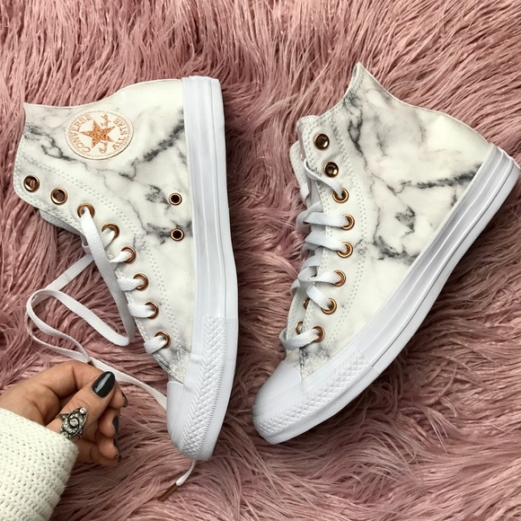 converse rose gold toe
