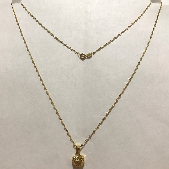 4 off saudi gold Jewelry 18k Necklace With Pendant Poshmark