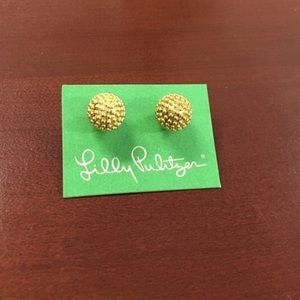 Lilly Pulitzer gold earrings