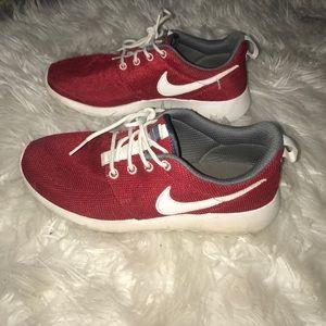Nike Shoes - Red Nike Roshe