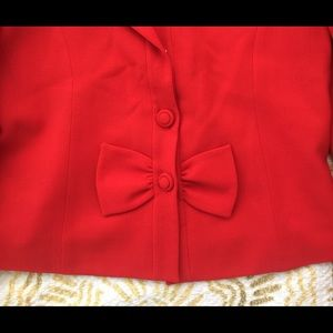 Valentino Red Skirt Suit 2 Piece