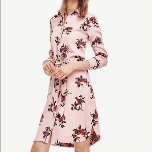 Ann Taylor Dresses & Skirts - NWT Ann Taylor pink Jungle Cat Shirtdress