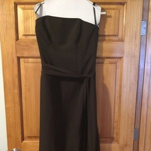 After Six Dresses & Skirts - Espresso strapless dress