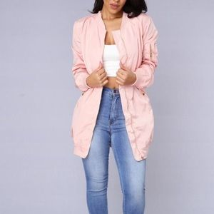 Fashion Nova Jackets & Blazers - FashionNova Blush Pink Bomber