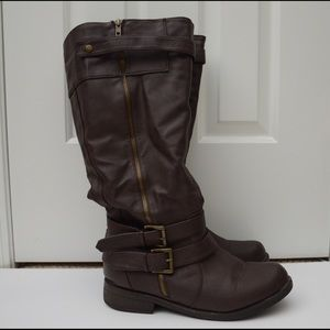 Shoes - Chocolate brown tall boots